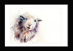 "Jen Buckley Art - Original watercolour painting ""Herdwick sheep"""