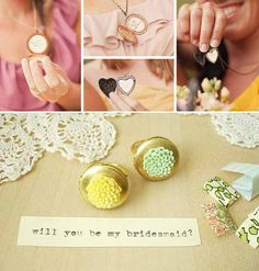 Send your future bridemaids a piece of jewelry as an invitation