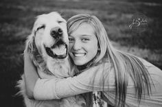 a girl & her dog << senior pictures by Jo Bekah Photography