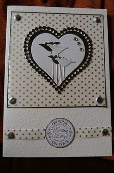 poppy wedding card - bjl