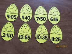 FREEBIE  Easter Egg Telling Time to the 5 Minutes Puzzles