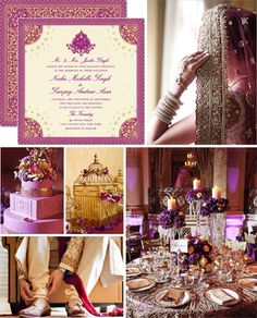 Love the purple theme!!   Beautiful Indian wedding invitations on a budget: a guest post by the Wedding Paper Divas at http://www.rubiesandribbon.com/2013/04/01/indian-wedding-invitations-wedding-paper-divas/