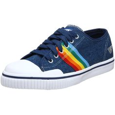b501c2c75 Gola Women's Rainbow Denim Sneaker ($34) ❤ liked on Polyvore featuring shoes,  sneakers, rainbow, zapatos, rainbow sneakers, grip trainer, multi colored  ...