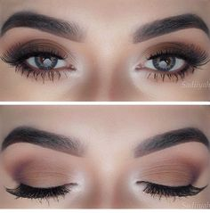 Make up Brown Matte. Makeup casual, social.