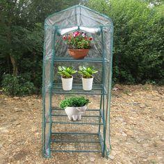 Large 4 Shelves Greenhouse Flower Plants PVC Plastic Garden Grow Green House