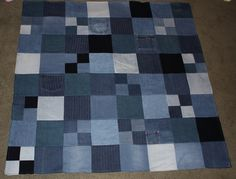 this is a blanket I made from old jeans | robynsemanko | Flickr
