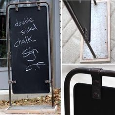 Metal Framed Sidewalk Chalkboard