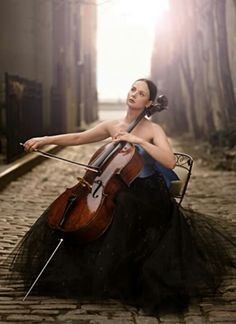 Photo of a cellist - beautiful.