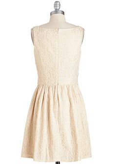 Sprout of Sight Dress. You feel oh-so lighthearted when you don this darling party dress by Nick  Mo! #gold #modcloth