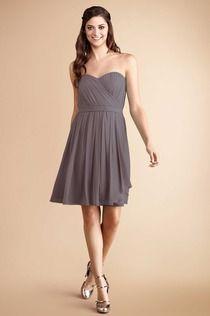 Great strapless option! #DonnaMorganBridesmaids #GreyRidge #Weddings