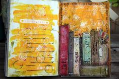 junelle jacobson | books, art journal page by Junelle Jacobson #mixed_media #art #books