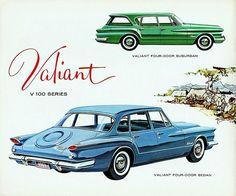 1961 Plymouth Valiant V-100 Four-Door Suburban and Four-Door Sedan