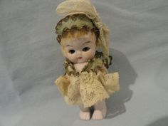 Wee All Bisque in Adorable Ribbon and Lace Outfit from auntpatsyscottage on Ruby Lane