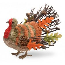 Turkey Stick and Acorn Tail Figurine