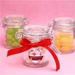 Unique heart shaped or shaped glass favor jars with cork available at fabulous prices! Click or call us toll-free Favors and Flowers offers brides the most up-to-date wedding favor packaging ideas from stylish favor glass favor jars to hig Wedding Jars, Wedding Ideas, Wedding Inspiration, Favour Jars, Candy Favors, Round Labels, Bottle Cover, Treat Holder, Spice Jars