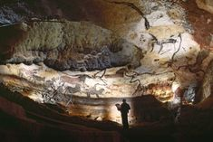 Paleolithic art adorns the walls of Lascaux Cave in southwest France. Photograph by Cotton Coulson, National Geographic Creativ National Geographic, Storyboard, Art Pariétal, Paleolithic Art, Lascaux, Beau Site, Church Of Our Lady, Historical Landmarks, Art Sites