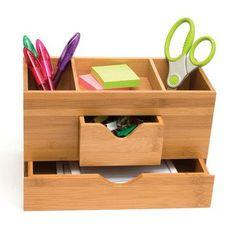 Bamboo 3-Tier Desk Organizer