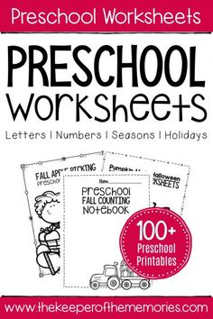 If you're looking for preschool worksheets, then you're definitely going to want to take a look around. On this page, you'll find tons of no prep printable activities covering lots of preschool skills. Literacy Worksheets, Printable Preschool Worksheets, Math Literacy, Vocabulary Activities, Free Printables, Preschool Names, Fall Preschool, Preschool Ideas, Preschool Crafts