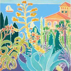 Royal Plants at the Hanbury Palace, Giardini Hanbury, La Mortola, Italy. Original Painting by Joanne Short Canvas Frame, Oil On Canvas, John Dyer, Plant Painting, White Paints, Doodle Art, Painting Inspiration, Online Art, Original Paintings