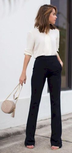Professional Casual Office Outfit For Young Women 19 #womensfashionforworkplussi... - #casual #office #outfit #Professional #Women #womensfashionforworkplussi #young Business Attire For Young Women, Business Casual Outfits For Women, Business Casual Dresses, Professional Outfits, Business Outfits, Professional Women, Business Style, Business Formal, Work Attire For Women