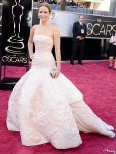 Wedding Dress Inspiration: 2013 Academy Awards Red Carpet Jennifer Lawrence