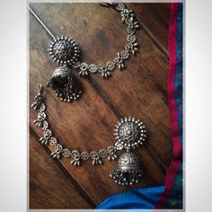 How To Make Silver Bracelets India Jewelry, Jewelry Art, Antique Jewelry, Jewelry Design, Jewellery Box, Saree Jewellery, Jewellery Earrings, Tribal Jewelry, Silver Jewellery Indian