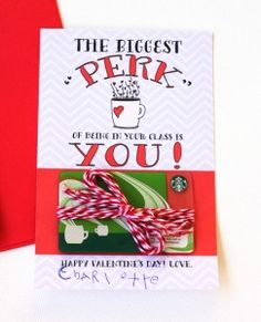 Free Coffee Card Teacher Valentine www.247moms.com #247moms