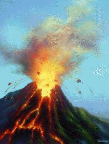 "Desgarga gratis los mejores gifs animados de volcanes. Imágenes animadas de volcanes y más gifs animados como gracias, angeles, animales o nombres"""