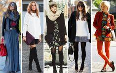 Como usar saias e vestidos no inverno