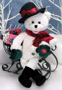 chantilly lane snowbear with light up buttons