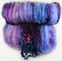 Burgundy Sapphire Wild Card Bling Batt for spinning and