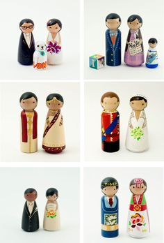 I've been looking for Asian /Caucasian cake toppers and wish I had these when my husband and I got married! Very cute.