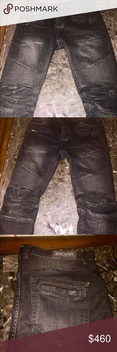 Men pierre balmain Jeans Men black and grey  balmain jeans . Size:34  Best condition  Original price $1350 Next day shipping Balmain Jeans Slim Straight