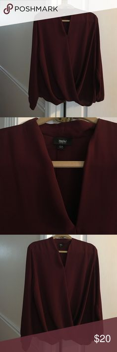 Ladies Burgundy Mossimo Blouse XL Ladies Mossimo XL Blouse Mossimo Supply Co Tops Blouses