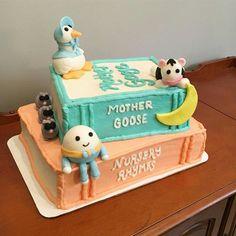 Baby shower or 1st birthday cake design