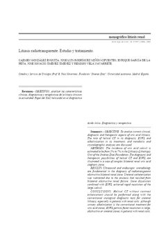 Litiasis radiotransparente. Estudio y tratamiento