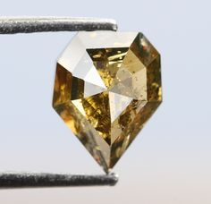 0.84 Ct, 6.6 X 5.0 X 3.2 MM, Geometric Shape Champagne Color Natural Loose Beautiful Diamond, Fancy Rustic Diamond, Diamond Jewelry, R679 by VishwaImpex on Etsy Rough Diamond, Rose Cut Diamond, Champagne Color, Conflict Free Diamonds, Natural Diamonds, Geometric Shapes, Colored Diamonds, Ring Designs, Diamond Engagement Rings