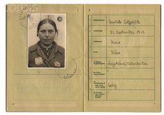 Nazi Germany, Nazi Identity book for a female Ukrainian forced laborer