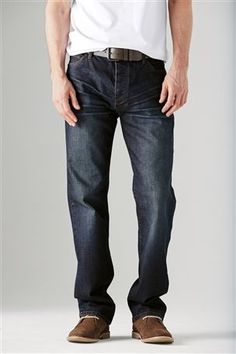 Dark Wash Belted Jeans by Next