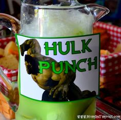 "Lemon-Lime ""HULK"" Party Punch {Recipe}"