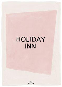 HOTEL MAGIQUE Holiday Inn art print. Shop online HOTELMAGIQUE.COM