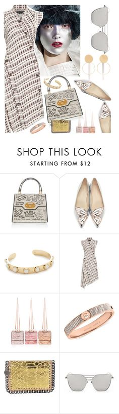 """with Metallic"" by petalp ❤ liked on Polyvore featuring Sophia Webster, Kate Spade, Proenza Schouler, Christian Louboutin, Michael Kors, STELLA McCARTNEY, Annie Costello Brown and dress"