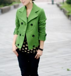 love this green jacket $86