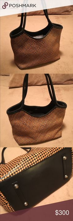 ebebb31050bc Paolo masi bag Gorgeous Paolo Masi leather bag. Woven with brown   tan  leather