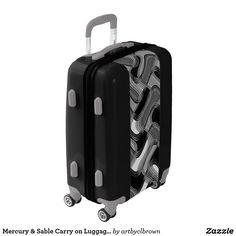 Want your luggage to stand out on the conveyor belt? It will do just that with the Mercury & Sable Carry On Luggage Suitcase designed by Artist C.L. Brown which features an abstract kinetic light painting edited for design. Fully lined interior contains multiple mesh & sealed pockets for improved packing as well as a lid compartment & compression straps for securing & organizing packed items. Available in three base colors, you can customize aspects of the luggage from the color of the…