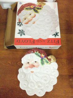 Fitz and Floyd Santa Head Plate