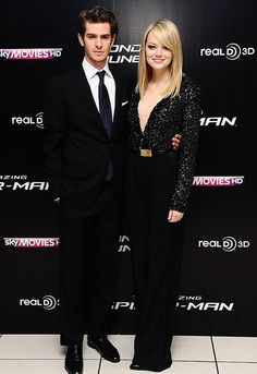 Andrew Garfiled and Emma Stone attend The Amazing Spider-Man premiere