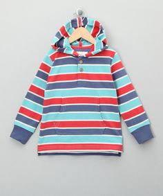 Take a look at this Bright Stripe Sailing Organic Hoodie -Toddler & Kids by Kite Kids on #zulily today!