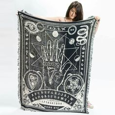 STAFF PICK: Limited edition palmistry throw blanket, designed in-house by us. It's 100% soft woven cotton and made in America. Free worldwide shipping on all orders.  Available for 1 week only. Order here: merchlimited.com/palmistry-blanket