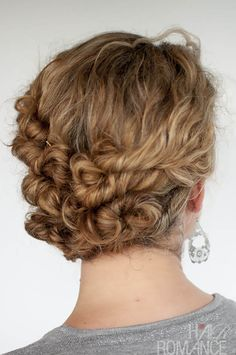 Hairstyle Tutorial – Easy Twist and Pin updo for curly hair | Hair Romance